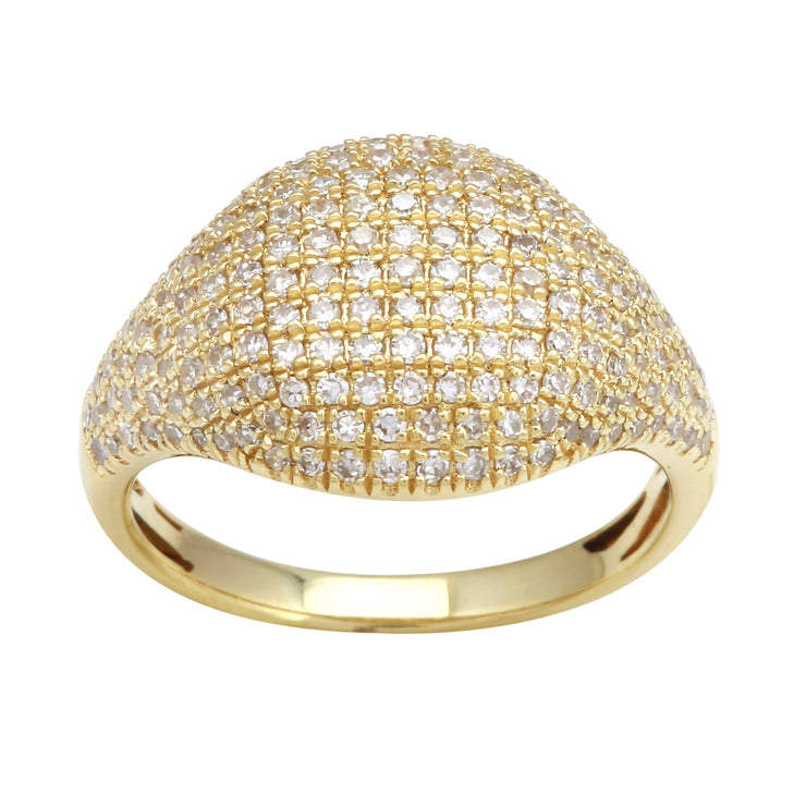 Diamond Signet Pinky Ring