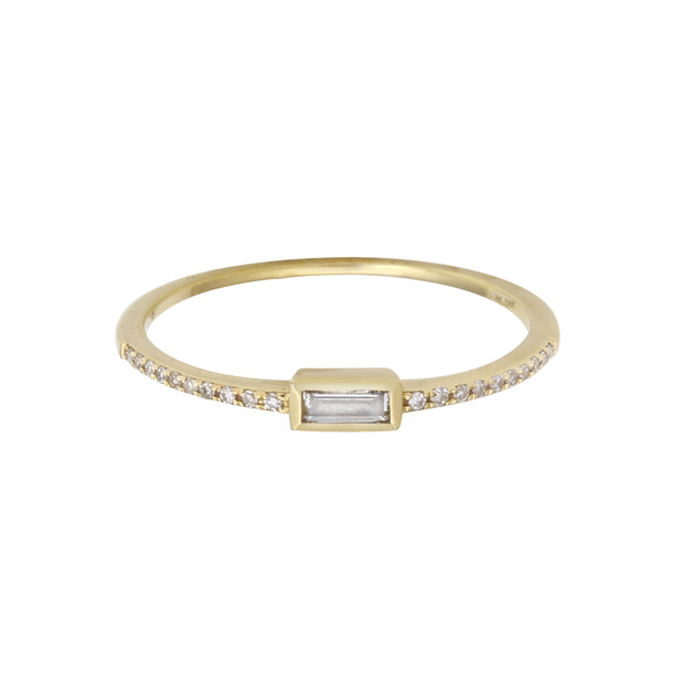 Petite Baguette Diamond Ring