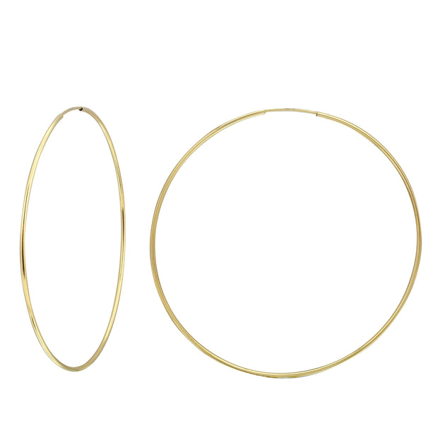 Classic 14K Gold Endless Hoops