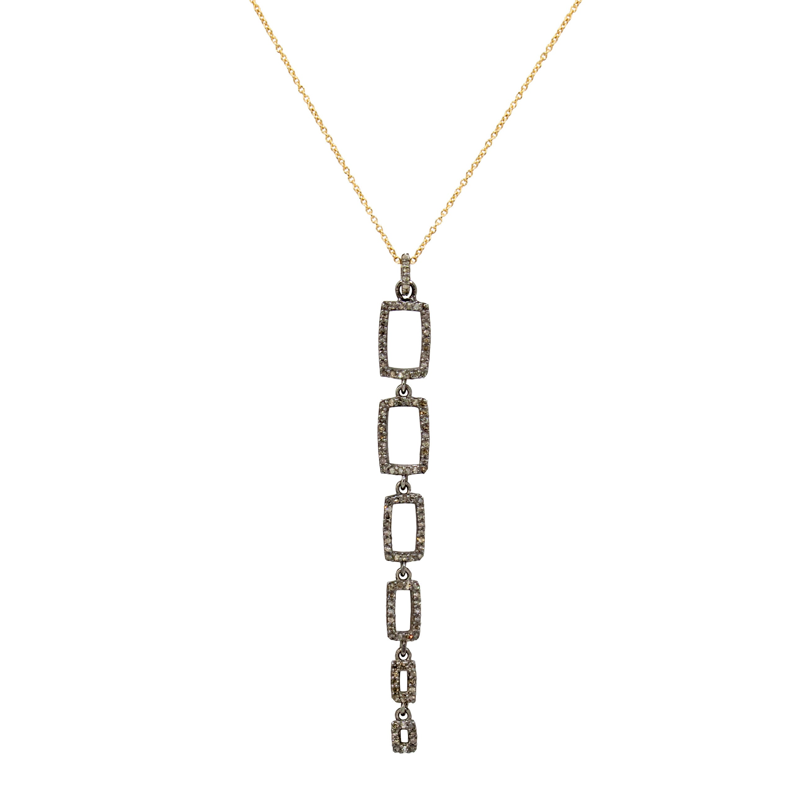 Stacked Pavé Diamond Necklace