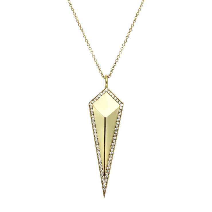"Diamond ""Mirror"" Spike Necklace"