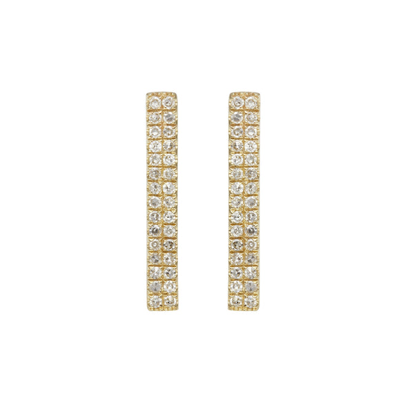 Double Row Pavé Diamond Earrings