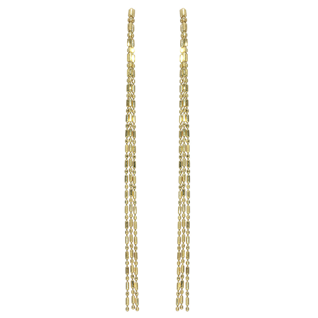 Gold Bead Chain Earrings