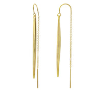 Yellow Gold Vermeil Spike Ear Threaders