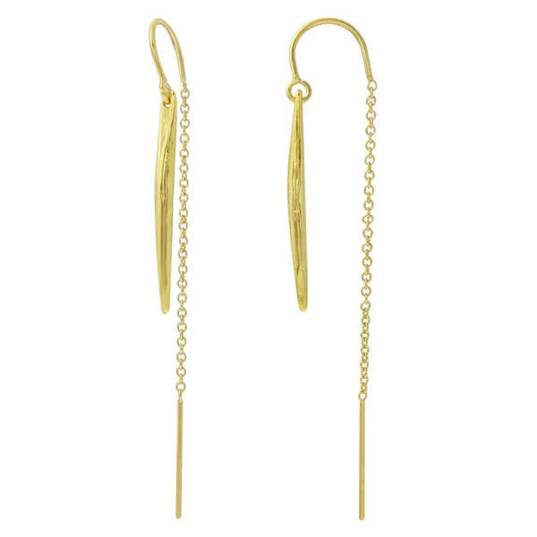 Yellow Gold Vermeil Baby Spike Ear Threaders