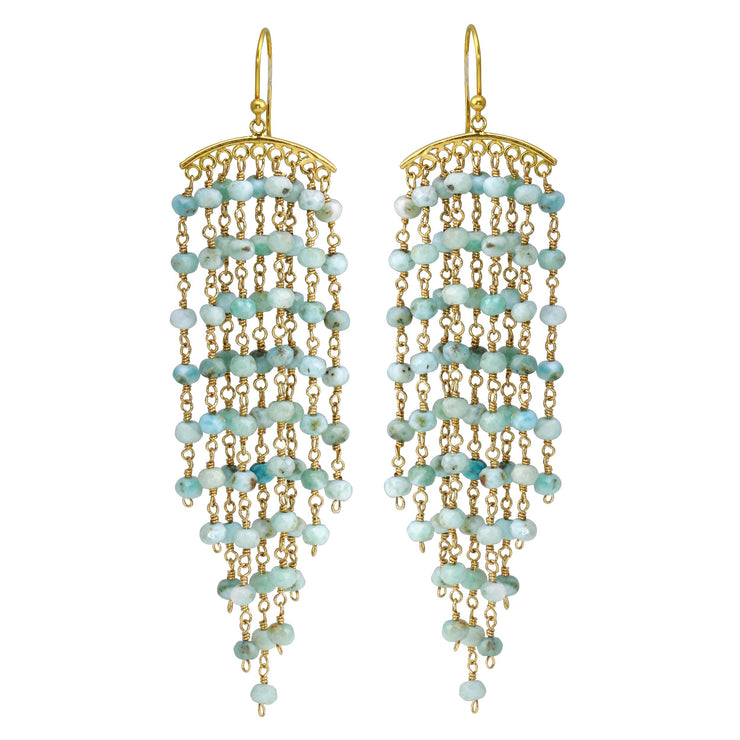 Larimar Chandelier Earrings