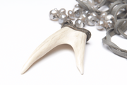 Moonstone and Pavé Diamond Antler Necklace