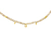 Zircon Choker with Rose Cut Diamond Drop and 18KY Beads