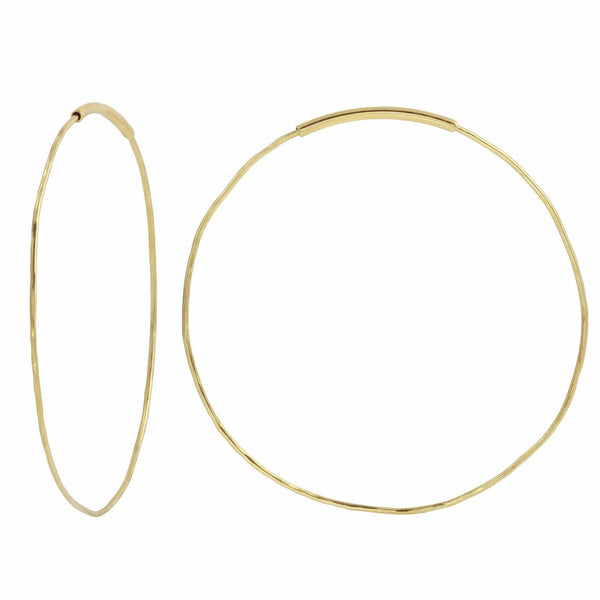 Signature 18K Gold Endless Hoops - Med and Lrg