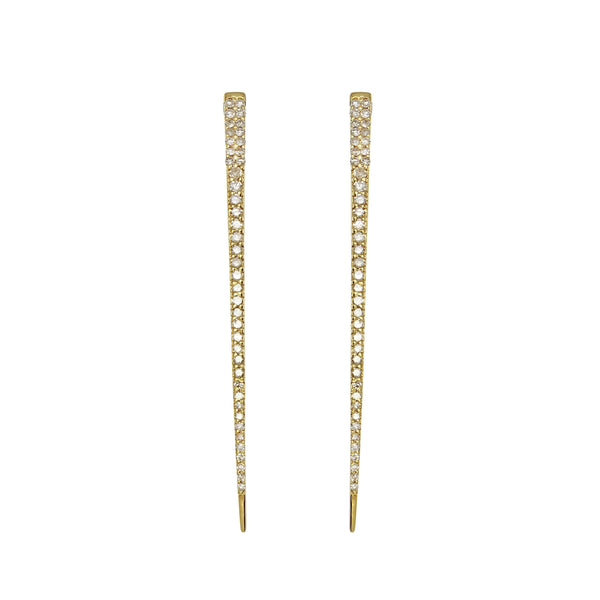 Diamond Tusk Earrings