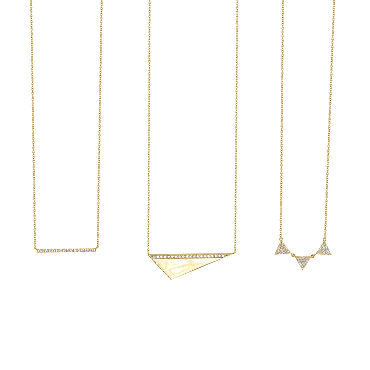 3 Triangle Diamond Necklace