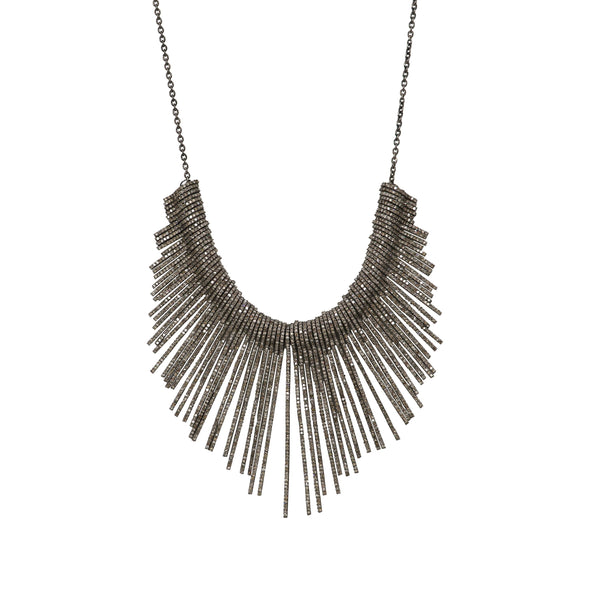Pavé Diamond Fringe Necklace