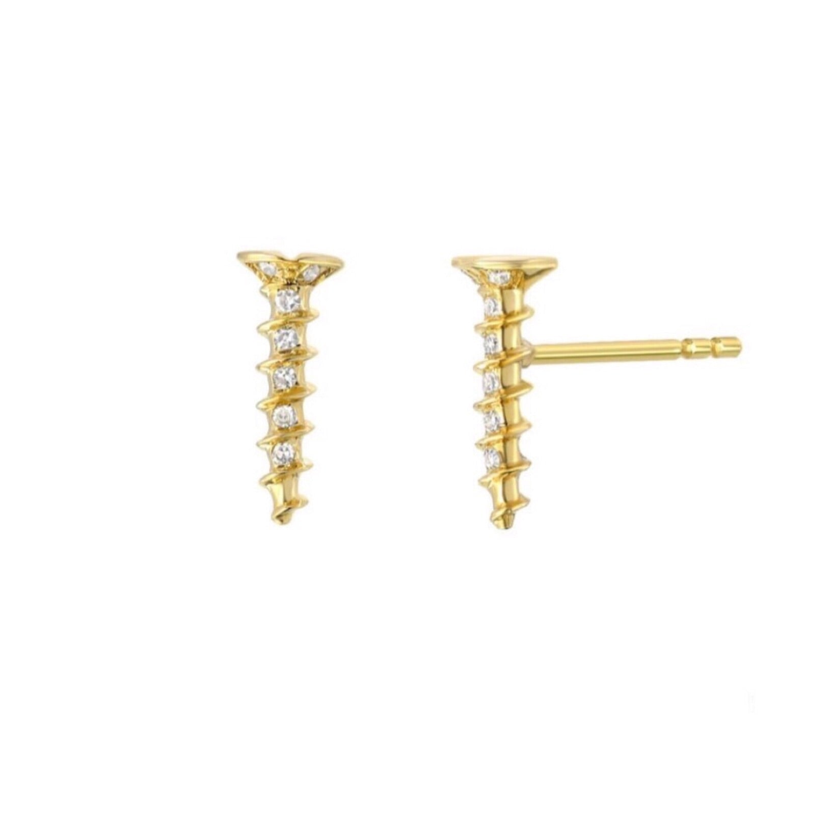 Diamond Screw Earrings