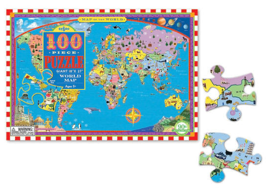 World Map (100pc)