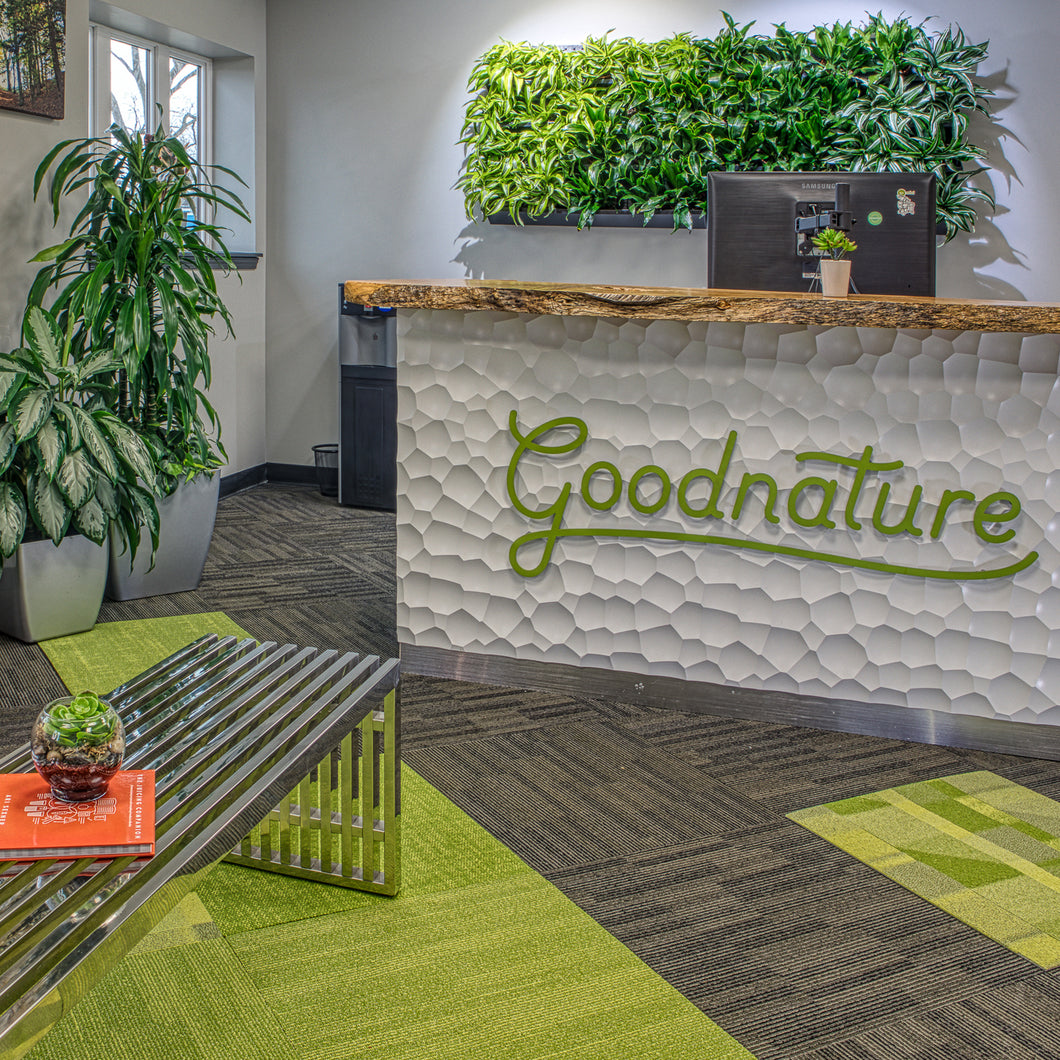 Enliven your front office with easy to install green plants wall art.