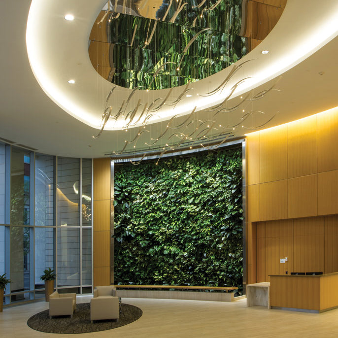 Plantups Green Wall Vertical Garden at Delaware North headquarters by Botanicus