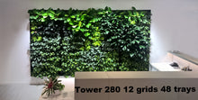 "This is an installation of 12 grids with 48 trays using our Green Wall Vertical Planter Kit for 6"" Grow Pots."