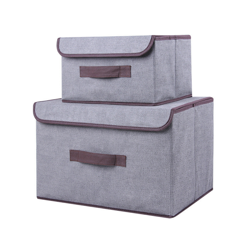 Cotton/Linen Storage Boxes (Set Of 2 )
