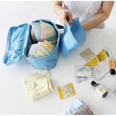 Travel Bra, Underwear, and Toiletry Waterproof Case
