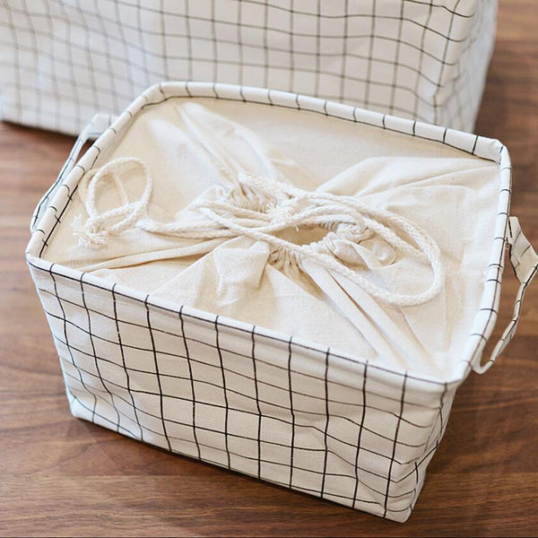 Laundry Storage Basket with Drawstring (3 sizes available)