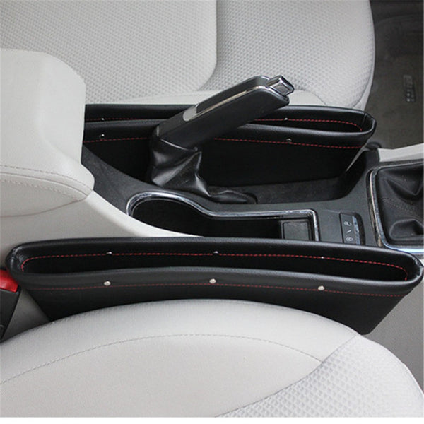 Front Seat Leather Car Organizer Pocket