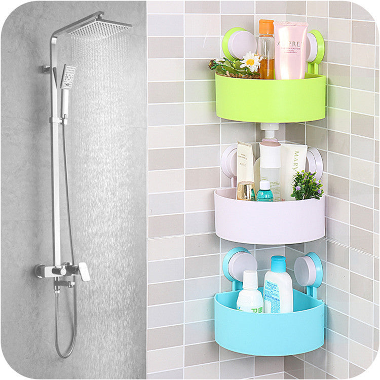 Suction Cup Corner-mounted Shelf