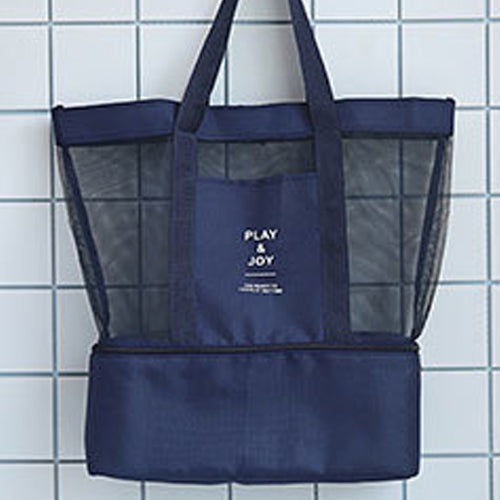 Mesh Beach Bag with Bottom Cooler