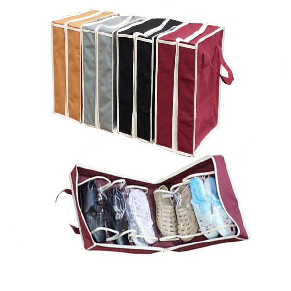 Travel Shoe Organizer-fits upto 6 pairs