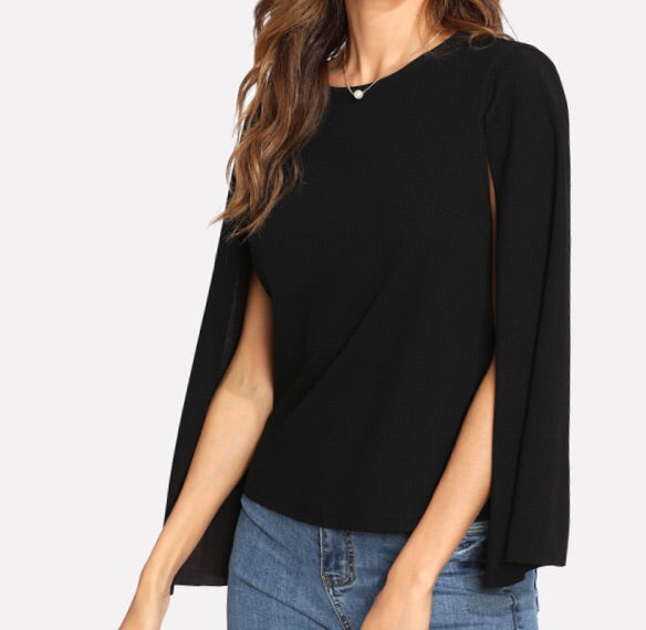 Black Cape Magik Top