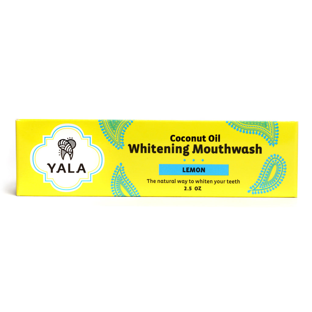 YALA Lemon Coconut Oil Whitening Mouthwash - 30 Day Supply