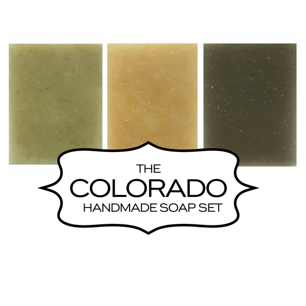 Colorado handmade soap gift set of three made in Fort Collins