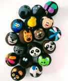 Alpaca Dryer Balls with hand-felted animals, set of 4