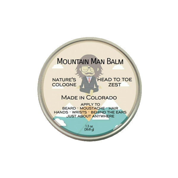Mountain Man Balm by Backwoods Forward; nature's cologne for wrists, behind the ears, hair, just about everywhere, man, woman, made in Colorado