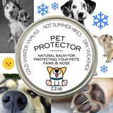 Natural pet protector for paws, noses for cold icy weather, hiking, dry skin; handmade natural ingredients in Colorado for dogs, cats, canines, felines