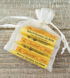 Succulent Citrus Natural Handmade Lip Balm (Set of 3)