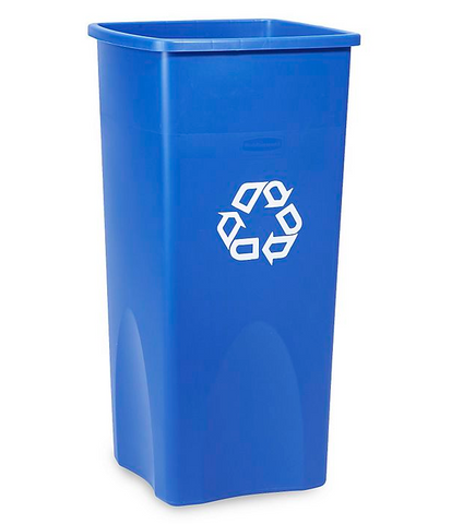 Square Recycling Bins - 23/35/50/56 Gallon