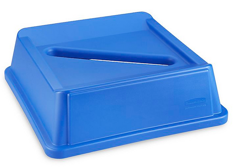 Square Recycling Bins - 35/50 Gallon Slot Lid