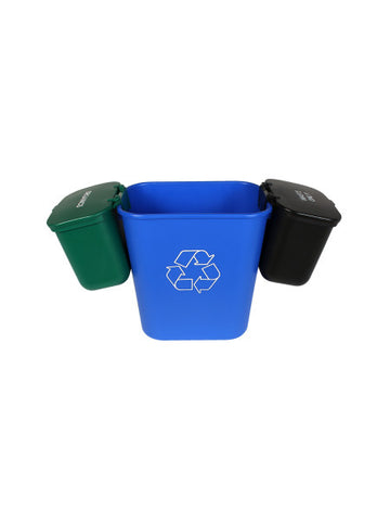 Office Combo - Solid Lift - Recycling/Waste/Organics