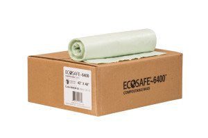30 x 39  EcoSafe - 6400 Compostable Bags Extra Heavy
