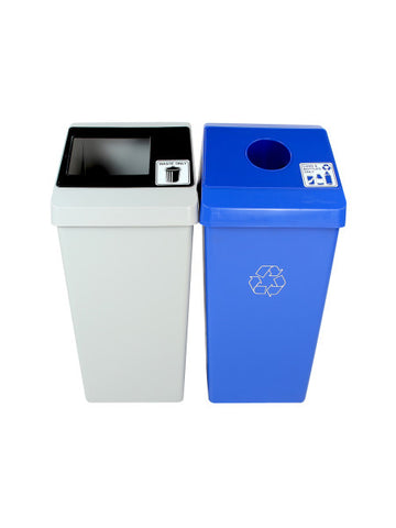 Smart Sort - Double Bins - Waste/Cans & Bottles