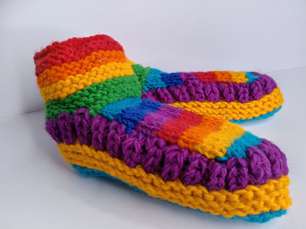 Rainbow Meditation Slippers