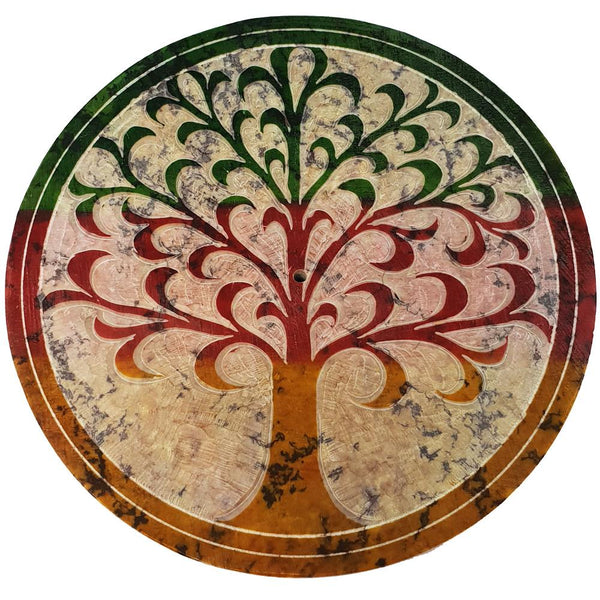 (W63) Tree of Life stone Incense Plate