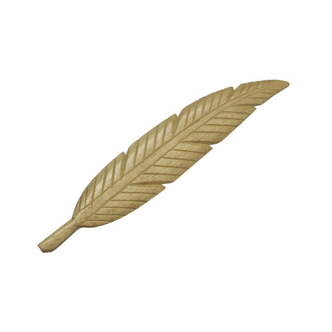 (W64) Wooden smudge feather