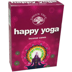 (W65) Happy Yoga cone incense