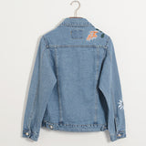 Oversized Embroidered Jean Jacket