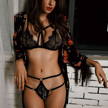 Satin Lace Black Lingerie