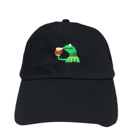 Kermit Sips Tea None Of My Business Doe Dad Hat