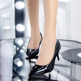 Pointed Patent Leather Pumps