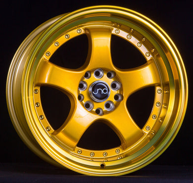 JNC 017 - Transparent Gold w/ Gold Machined Lip