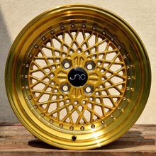 JNC 045 - Transparent Gold w/ Gold Rivets